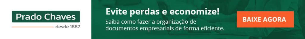 """Banner para download do e-book """"Como fazer organização de documentos empresariais""""."""